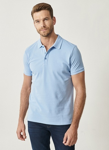 Altınyıldız Classics Altınyıldız Classic Açık Mavi T-Shirt Mavi